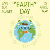Tag der Erde am 22. April retten unseren Planeten lizenzfreie abbildung