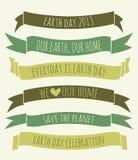 Tag der Erde-Fahnen-Sammlung Stockbild
