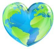 Tag der Erde-Herz Stockbilder