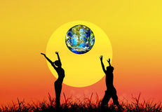 Tag der Erde. Jahreszeitnatur Stockfotografie