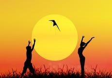 Tag der Erde. Jahreszeitnatur stock abbildung