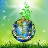 Tag der Erde. Jahreszeitnatur lizenzfreie abbildung