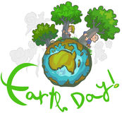 Tag der Erde-Karikatur Lizenzfreie Stockfotos