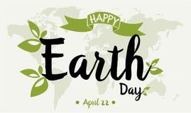 Tag der Erde-Karte oder -hintergrund Lizenzfreies Stockbild