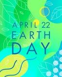 Tag der Erde-Typografie-Design vektor abbildung