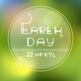 Tag der Erde-Vektor Lizenzfreie Stockbilder