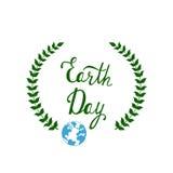 Tag der Erde-Vektorhintergrund Lizenzfreie Stockfotos