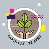 Tag der Erde-Vektorillustration lizenzfreie abbildung