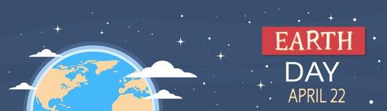 Tag der Erde-Weltstaatsangehöriger April Holiday Globe Stockbilder