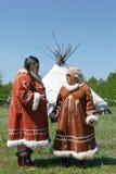 Tag der ersten Fische - alter nationaler Ritualfeierureinwohner der Halbinsel Kamtschatka Lizenzfreie Stockfotos