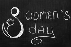 Tag der internationalen Frauen der März achter Stockfoto