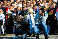 Tag der offenen Tür in der Schule Stockfoto