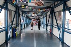 Tag der offenen Tür auf dem Fähre Stena-Geist. Stockfoto