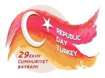 Tag der Republik die Türkei 29 Ekim auf Vektor-Illustration Lizenzfreie Stockfotografie