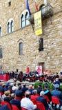 Tag der Republik-Feier in Florenz, Italien lizenzfreie stockfotografie