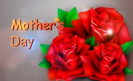 Tag der Rotrosenkonzept-Mutter s Lizenzfreies Stockbild
