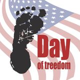 Tag der Sklavereiaufhebungs-Vektorillustration Stockbild