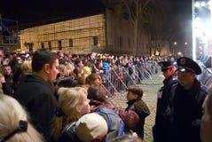 Tag des April-Dummkopfs: Stimmung und Musik fest in Odessa Lizenzfreies Stockfoto