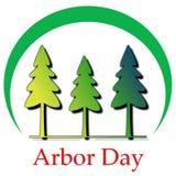 Tag des Baums Logo Illustration lizenzfreie abbildung