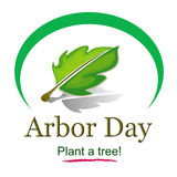 Tag des Baums Logo Illustration lizenzfreies stockbild