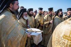 Tag des christlichen Feiertags die Taufe Lizenzfreies Stockbild