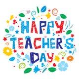 Tag des glücklichen Lehrers lizenzfreie abbildung