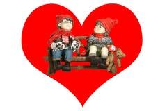 Tag des heiligen Valentinsgrußes, eine Karte. Stockbild