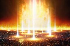 Tag des Jüngsten Gerichtes, Ende der Welt, völlige Zerstörung der Zivilisation Stockfotografie