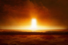 Tag des Jüngsten Gerichtes kommt, Ende der Welt, Eingang zur Hölle Lizenzfreie Stockfotografie