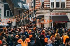 Tag des Königs, Amsterdam stockfotos