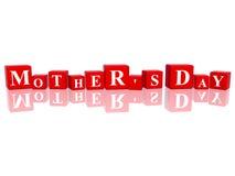 Tag des Mutter in den Würfeln 3d Lizenzfreies Stockfoto