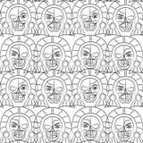 Tag des toten Sugar Skull Seamless-Musters, Stockfotos