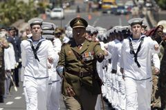 Tag des Waffenstillstands des I. Weltkrieges in Kapstadt, Südafrika 2008 Lizenzfreie Stockfotos