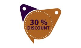 Tag Discount Label 30 Percent. Vector Royalty Free Stock Images