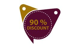 Tag Discount Label 90 Percent. Vector Royalty Free Illustration