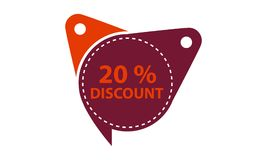 Tag Discount Label 20 Percent. Vector Royalty Free Stock Photography