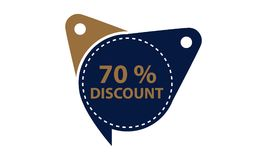 Tag Discount Label 70 Percent. Vector Royalty Free Stock Photo