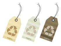 Tag do algodão de cem por cento Fotografia de Stock Royalty Free