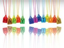 Tag do feliz aniversario ilustração stock