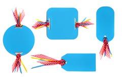 Tag do papel Handmade com fita colorida Imagem de Stock Royalty Free