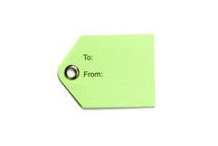 Tag do papel verde imagens de stock