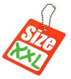 Tag do tamanho de XXL Fotografia de Stock