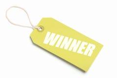 Tag do vencedor do ouro Imagens de Stock