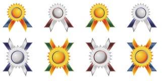 Tag dos emblemas ilustração royalty free