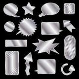 Tag e bolhas de prata do discurso Imagens de Stock