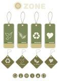 Tag e símbolos do produto da ecologia Imagens de Stock Royalty Free