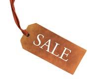 Tag em branco amarrado com corda Imagem de Stock Royalty Free