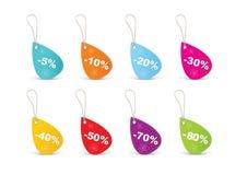 Tag em branco coloridos das vendas Ilustração Stock