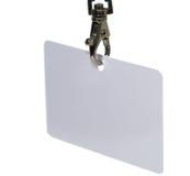 Tag em branco da identificação Foto de Stock Royalty Free