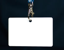 Tag em branco da identificação Fotografia de Stock Royalty Free